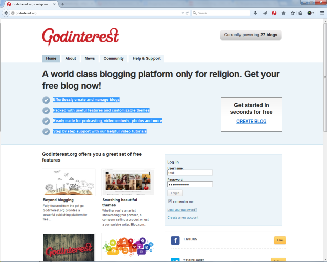 Godinterest - WordPress for Religion